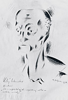 The Grand Inquisitor, 1916, black chalk on paper, 34 x 21,2 cm