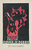 Cover of Leonhard Frank´s Der Mensch is Gut, 1921, Prague